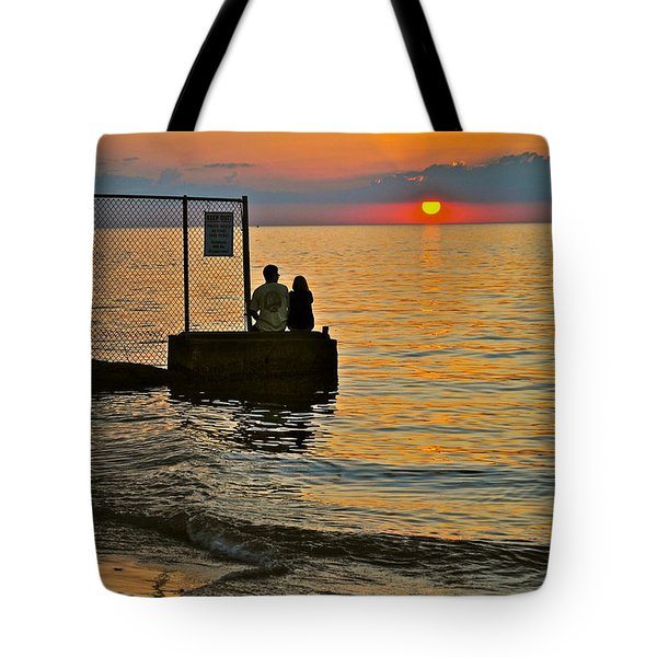 Lovers Overlook Tote Bag by Frozen in Time Fine Art Photography