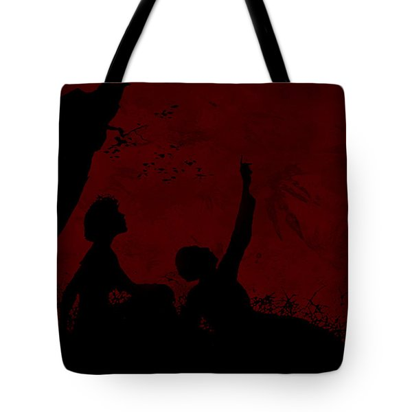 Tote Bag featuring the photograph Lovers Under The Stars by Sandra Foster