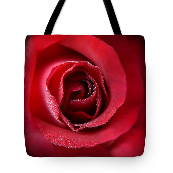 Love's Eternal Red Rose  Tote Bag by Jennie Marie Schell