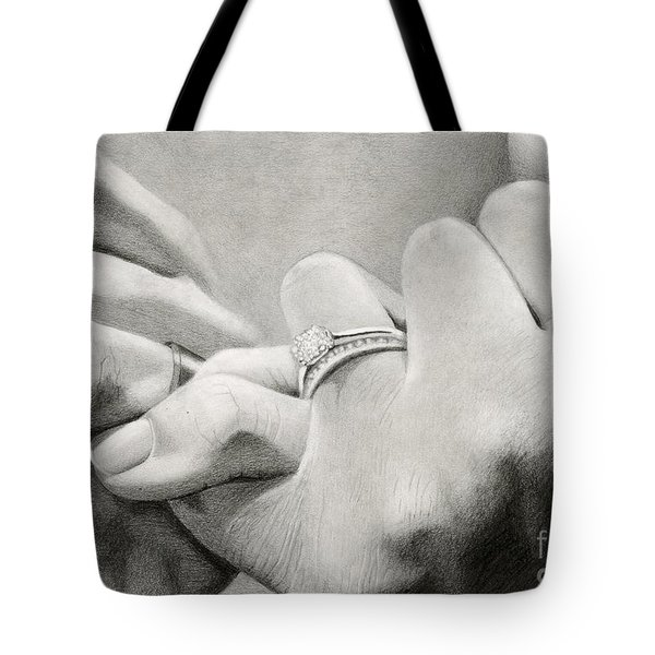 Love's Promise Tote Bag by Sarah Batalka