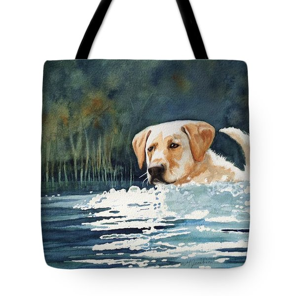 Loves The Water Tote Bag by Marilyn Jacobson