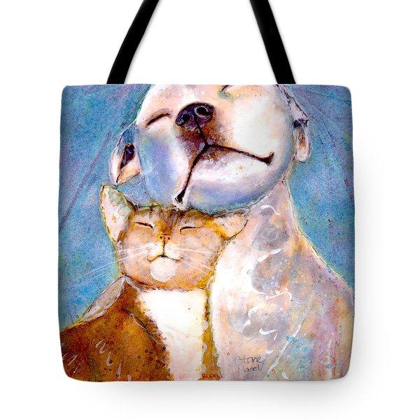 Lovey Dovey Tote Bag by Marie Stone Van Vuuren
