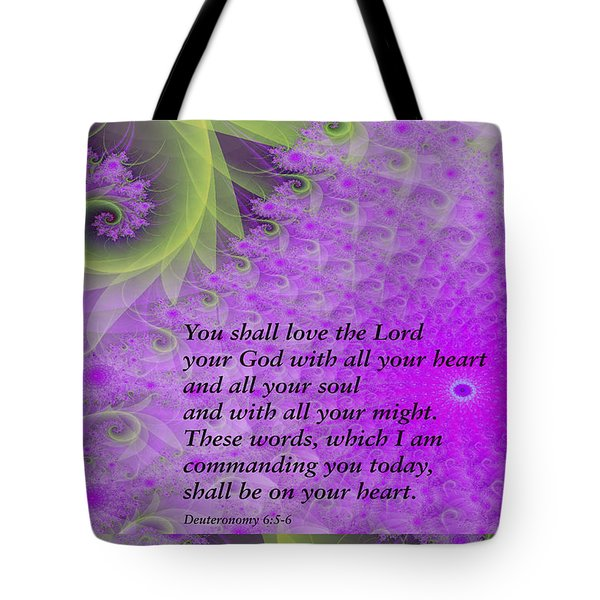 Loving God With All Your Heart Tote Bag