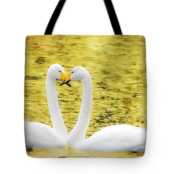 Loving Swans Tote Bag by Tommytechno Sweden