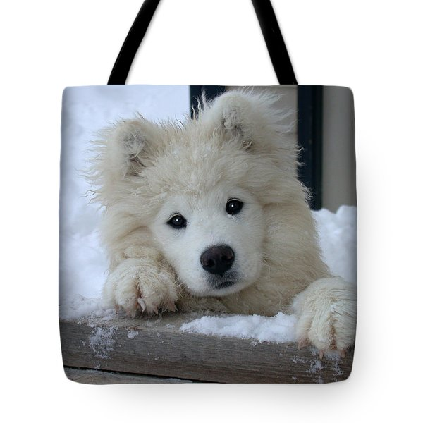 Loving The Snow Tote Bag