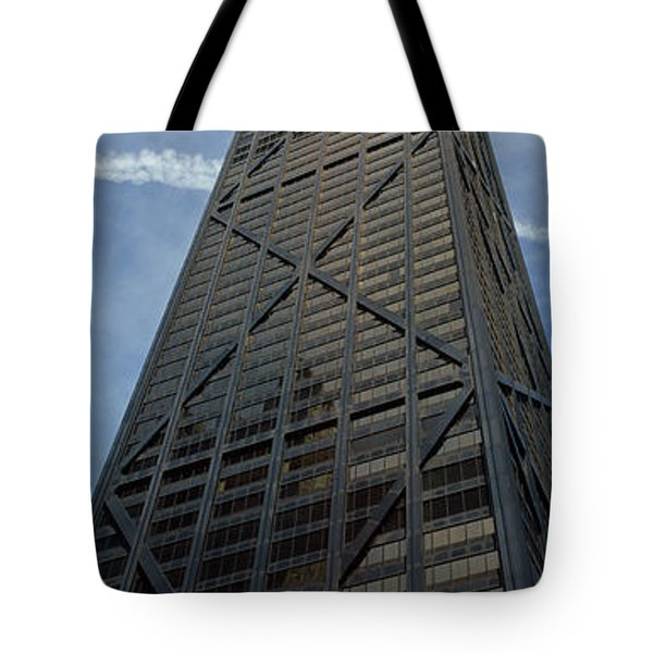 Low Angle View Of A Building, Hancock Tote Bag