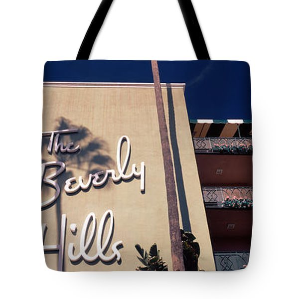 Low Angle View Of A Hotel, Beverly Tote Bag