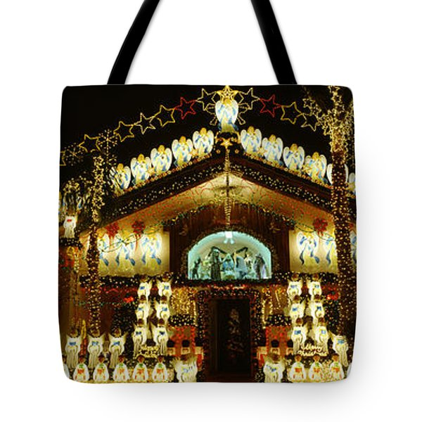 Low Angle View Of A House Decorated Tote Bag