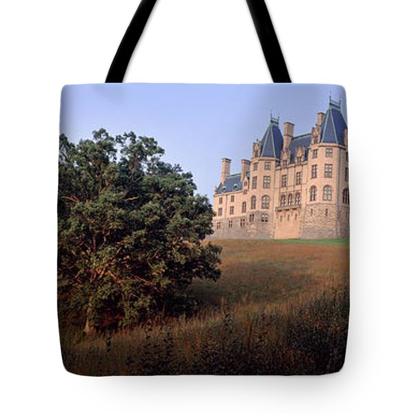 Low Angle View Of A Mansion, Biltmore Tote Bag