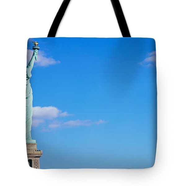 Low Angle View Of A Statue, Statue Tote Bag