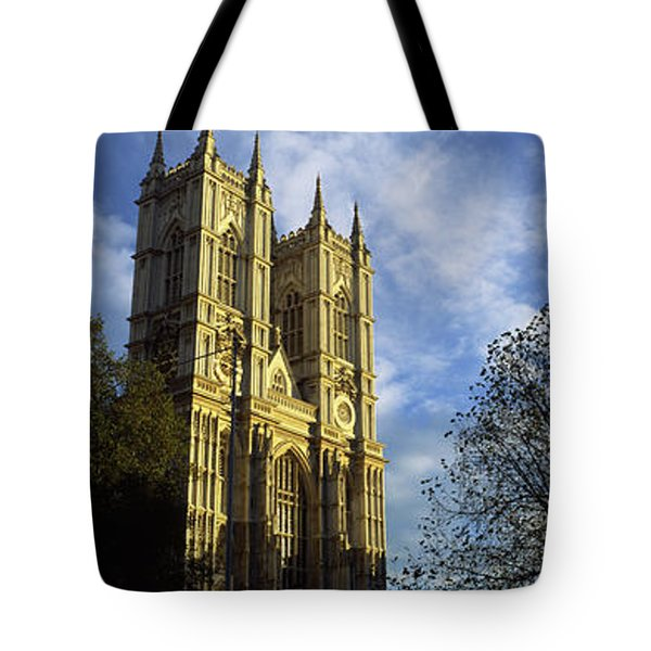 Low Angle View Of An Abbey, Westminster Tote Bag by Panoramic Images