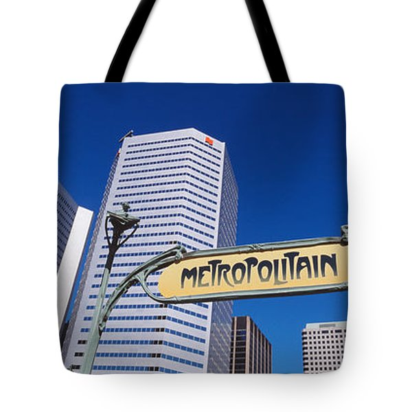 Low Angle View Of Buildings, Cite Tote Bag