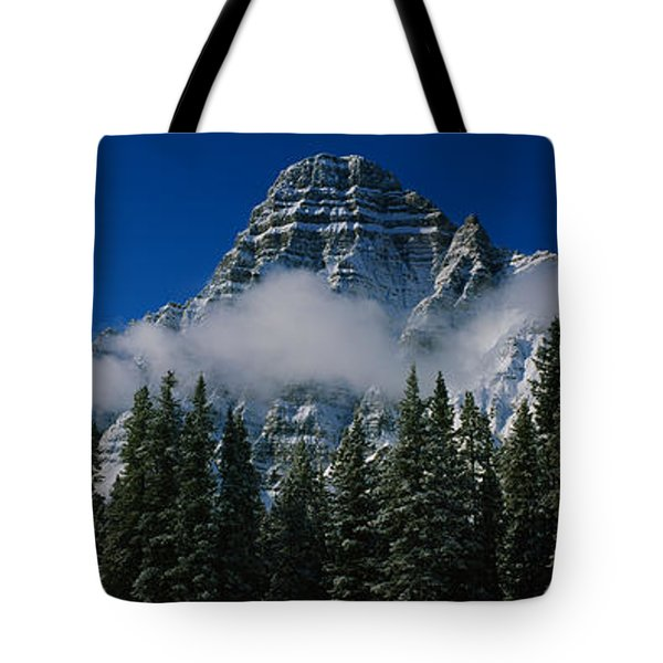 Low Angle View Of Mountains, Jasper Tote Bag