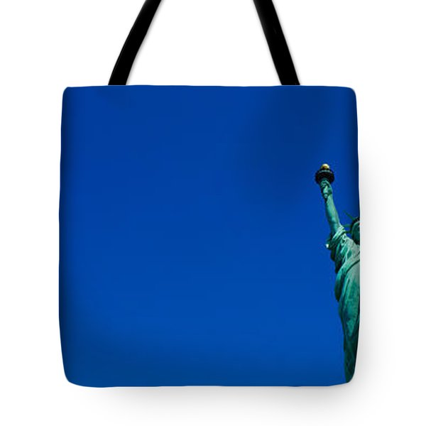 Low Angle View Of Statue Of Liberty Tote Bag