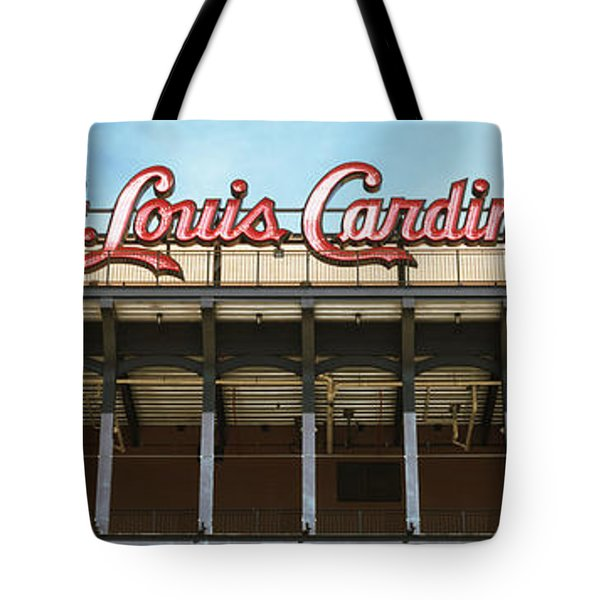 Low Angle View Of The Busch Stadium Tote Bag