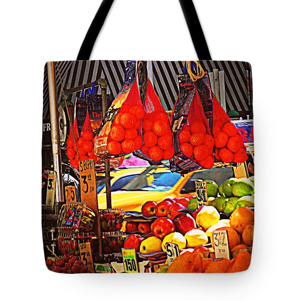 Tote Bag featuring the photograph Low-hanging Fruit by Miriam Danar