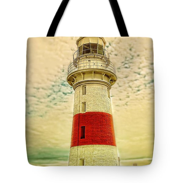 Tote Bag featuring the photograph Low Head Lighthouse by Wallaroo Images