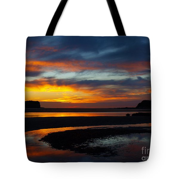 Tote Bag featuring the photograph Low Tide At Sunrise by Trena Mara