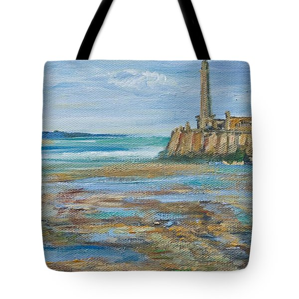 Low Tide In The Harbour. Tote Bag
