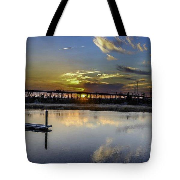 Lowcountry Marina Sunset Tote Bag