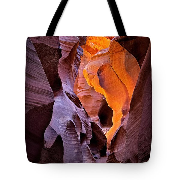 Tote Bag featuring the photograph Lower Antelope Glow by Jerry Fornarotto