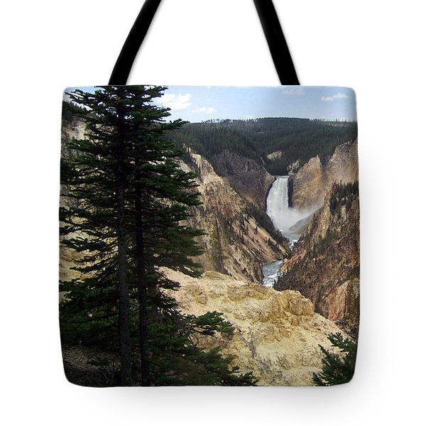 Tote Bag featuring the photograph Lower Falls by Charles Robinson