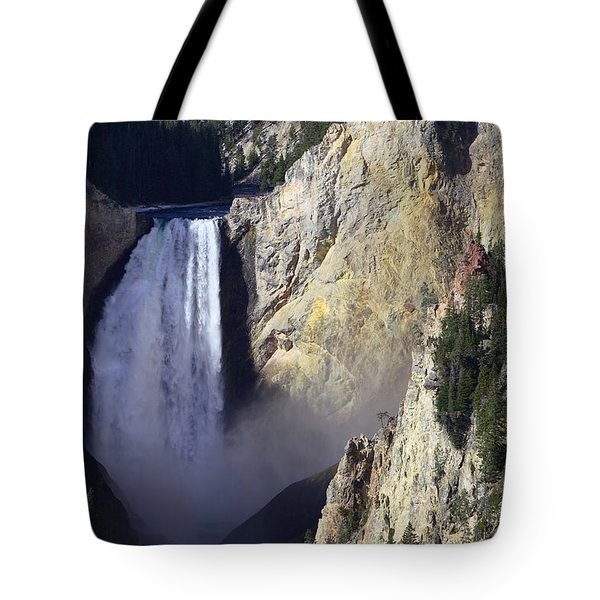 Tote Bag featuring the photograph Lower Falls by David Andersen