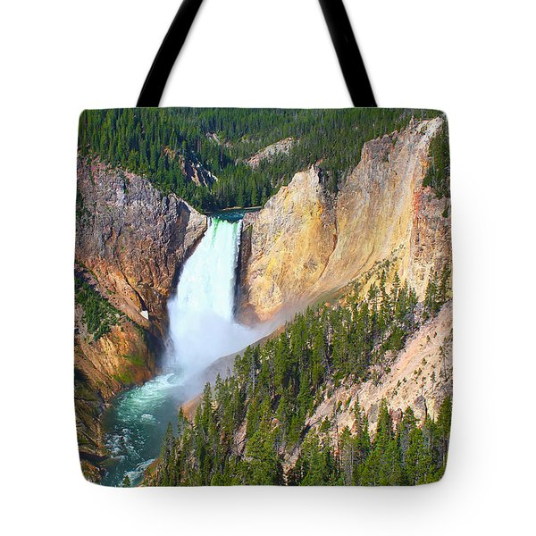 Lower Falls Yellowstone 2 Tote Bag by Teresa Zieba