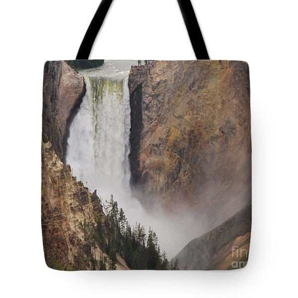 Tote Bag featuring the photograph Lower Falls - Yellowstone by Mary Carol Story