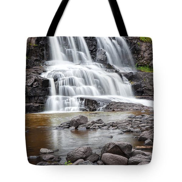 Lower Gooseberry Falls Tote Bag by Randall Nyhof