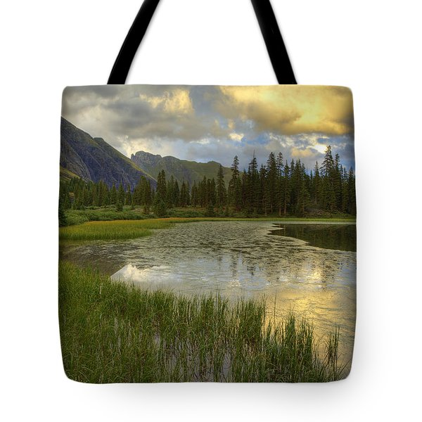 Tote Bag featuring the photograph Lower Ice Lake by Alan Vance Ley