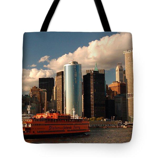 Lower Manhattan  Tote Bag by James Kirkikis