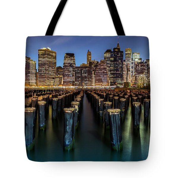 Tote Bag featuring the photograph Lower Manhattan by Mihai Andritoiu