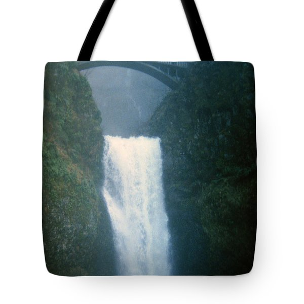 Lower Multnomah Falls Through The Mist Tote Bag