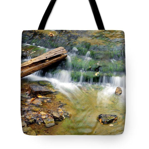 Lower Part Of Au Train Falls Tote Bag by Optical Playground By MP Ray