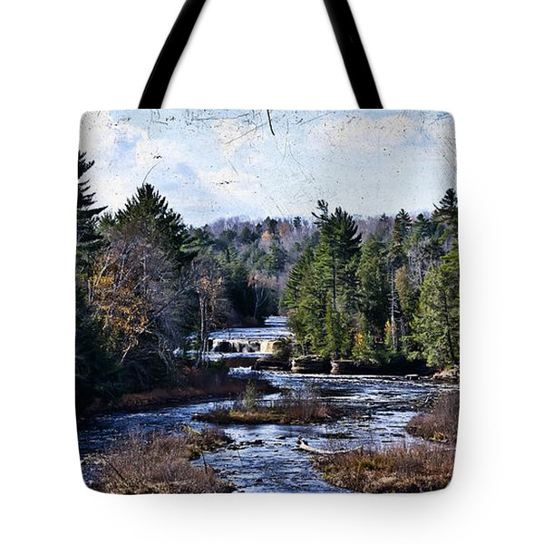 Lower Tahquamenon Falls Michigan Tote Bag by Evie Carrier