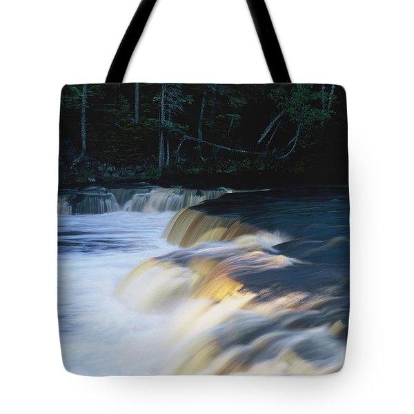 Lower Tahquamenon Falls Tote Bag by Randy Pollard
