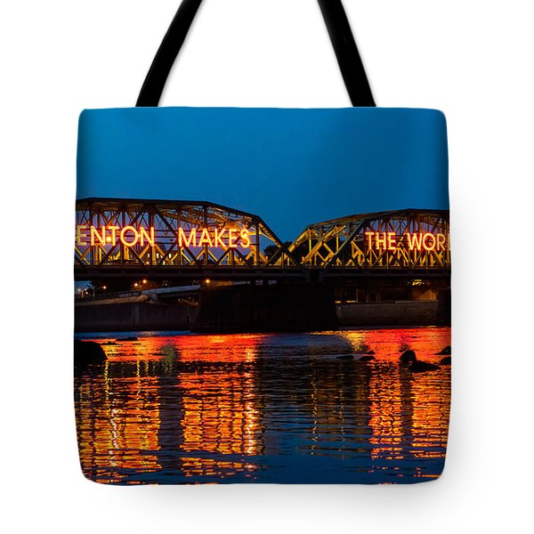 Tote Bag featuring the photograph Lower Trenton Bridge by Louis Dallara