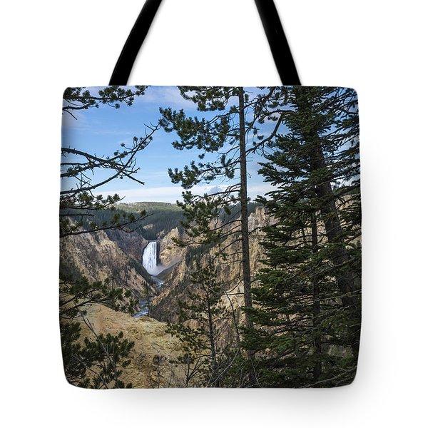Lower Yellowstone Canyon Falls - Yellowstone National Park Wyoming Tote Bag by Brian Harig