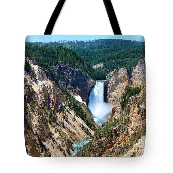 Lower Yellowstone Falls Tote Bag