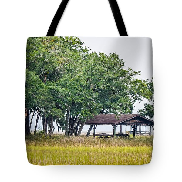 Lowland Picnic Place  Tote Bag by Mary Ward