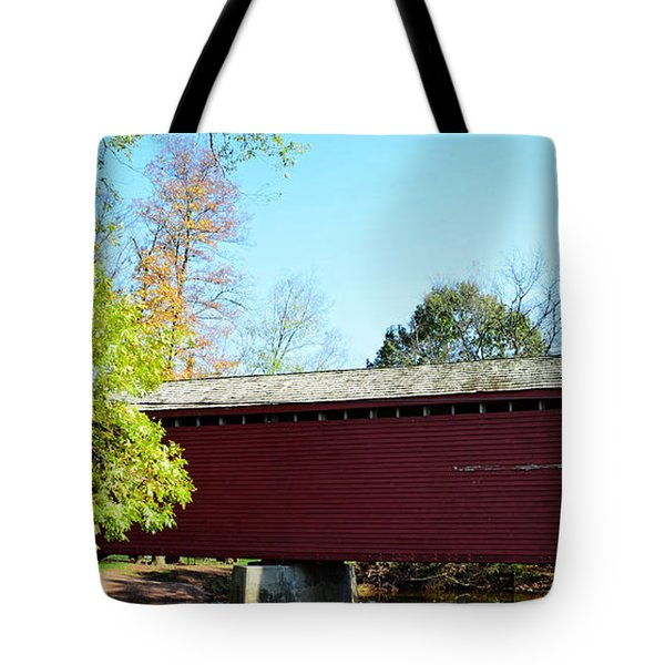 Loy's Station Covered Bridge Tote Bag by Cathy Shiflett