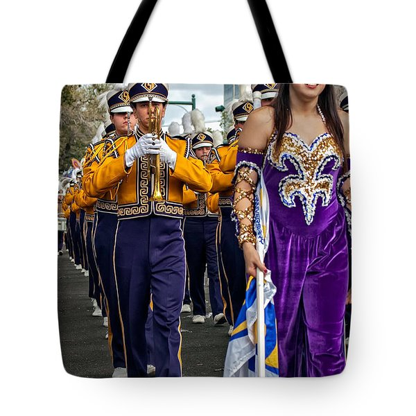 Lsu Marching Band 5 Tote Bag by Steve Harrington