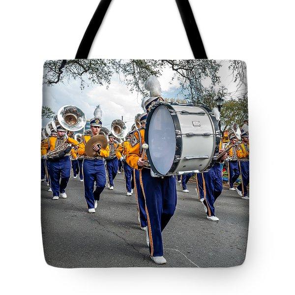 Lsu Tigers Band 3 Tote Bag by Steve Harrington