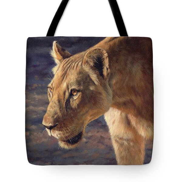 Luangwa Princess  Tote Bag by David Stribbling