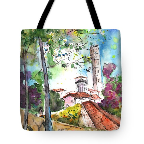 Lucca In Italy 01 Tote Bag by Miki De Goodaboom