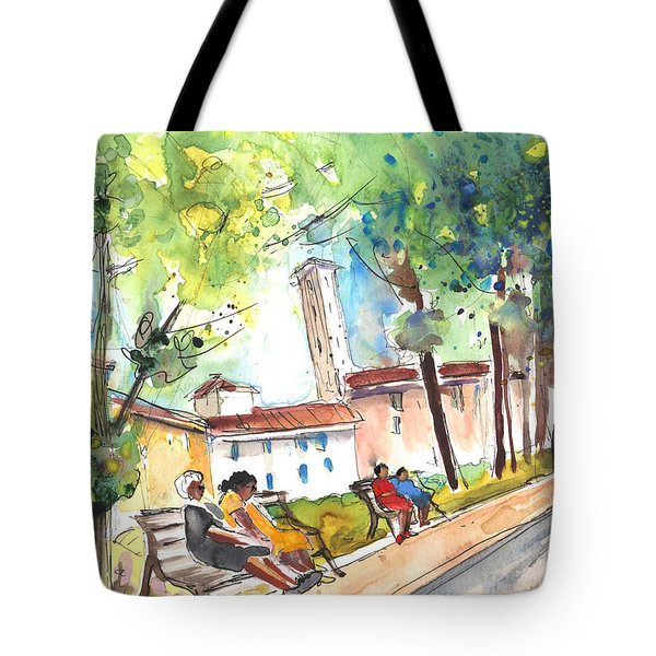 Lucca In Italy 03 Tote Bag by Miki De Goodaboom
