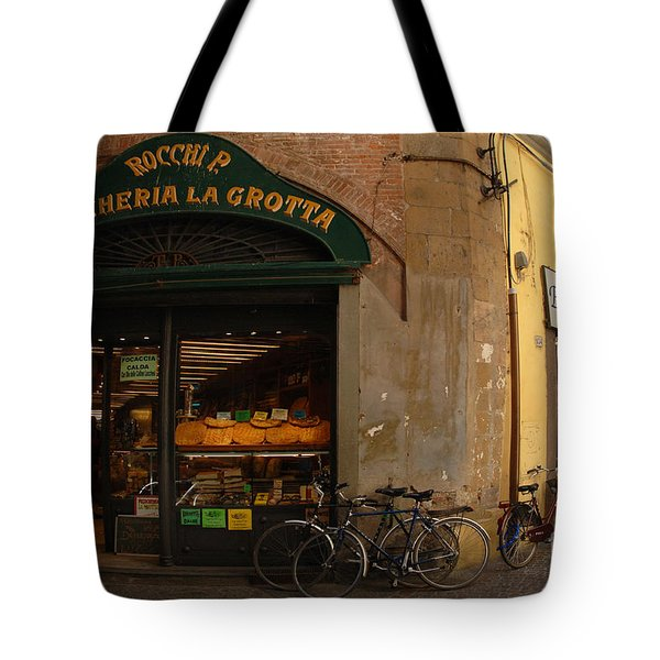 Lucca Italy Tote Bag by Bob Christopher