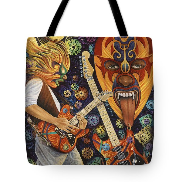 Lucha Rock Tote Bag by Ricardo Chavez-Mendez