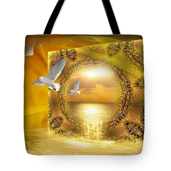 Tote Bag featuring the digital art Lucid Dream - Surreal Art By Giada Rossi by Giada Rossi
